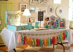 Vintage Party Ideas, Color Schemes can change .  Like some of the detail items.