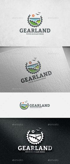 Gear Land Logo Template Vector EPS, AI. Download here: http://graphicriver.net/item/gear-land-logo-template/14045211?ref=ksioks