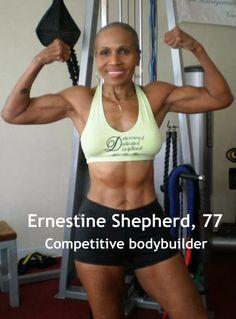 Ernestine Shepherd - 78 yr old body builder! - WholeBody LifeStyle & Fitness