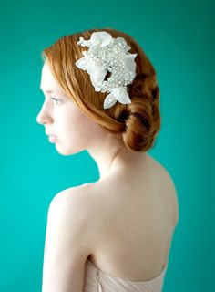 Wedding Headpiece Crystal Headpiece Bridal Hair by sibodesigns, $207.00