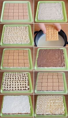 Hříšný dort s banány. Bez pečení, bez želatiny a s fenomenální chutí. Easy Baking Recipes, Snack Recipes, Dessert Recipes, Cooking Recipes, Cookie Desserts, Easy Desserts, Graham Cracker Dessert, Baked Breakfast Recipes, Kolaci I Torte