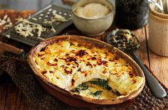 Spinach Potato Gratin - made this tonight, added feta with the cheese / sauce layer. Was delicious!