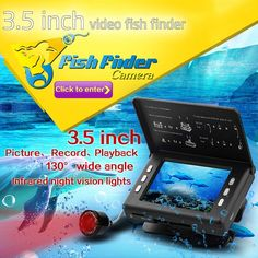 132.00$  Watch here - http://aikgl.worlditems.win/all/product.php?id=32800647730 - 3.5'' Portable DVR Underwater Cam Fishing Finder Video Camera Portable English Display Fishfinder