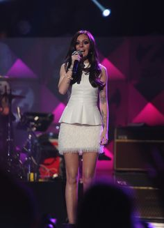 Cher Lloyd performs during Z100's Jingle Ball at Madison Square Garden on Dec. 7, 2012 in #NYC