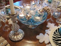 cut glass, silver and turquois