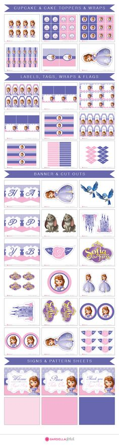 Sofia The First Birthday Sofia The First invitation by DellaGlobal