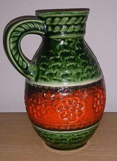 W Vintage Vases, Flower Vases, Candlesticks, German, Pottery, Ceramics, Retro, Collection, Home Decor