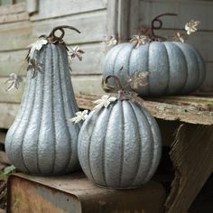 Galvanized Pumpkin with Rustic Detail (Set of Fall is in the air, so it's time to start decorating for your fall holidays. Product Dimensions: x Metal Pumpkins, Small Pumpkins, Foam Pumpkins, Reindeer Decorations, Halloween Decorations, Pumpkin Carriage, Unique Gifts For Women, Unusual Gifts, Pumpkin Decorating