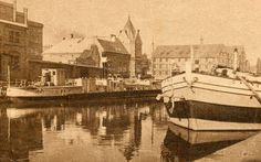 Brda River, Bydgoszcz, Poland, on the right my grandfather's barge