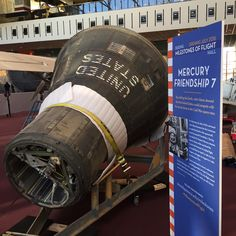 """See John Glenn's """"Friendship 7"""" capsule in a new way. On February 12th, we took the plexiglass cover off the capsule in which Glenn became the first American to orbit the Earth. The Mercury """"Friendship 7"""" capsule is now in a new location in the Boeing #MilestonesofFlight Hall and you can see it uncovered while we renovate this exhibition.   What else is on view in this exhibition? More on our website."""