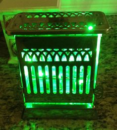 1920's vintage toaster turned into a lamp with led wiring $149.00