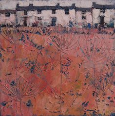 Cottages near Morvah by John Piper at the Lighthouse Gallery Landscape Drawings, Landscape Art, Landscape Paintings, Abstract Paintings, Abstract Art, Pastel Landscape, Flower Landscape, John Piper Artist, Cottage Art