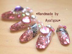 Hime gyaru pink deco nail art Minako by Aya1gou on Etsy, $19.50