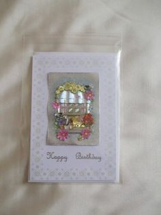 Cute Bear at window Decoupage Birthday Card With Envelope | eBay