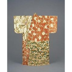 Kosode (Short-Sleeved Kimono) with Alternating Blocks of Flowers and Plants in Embroidery and Gold L, Momoyama Period, 16th century, Kyoto National Museum