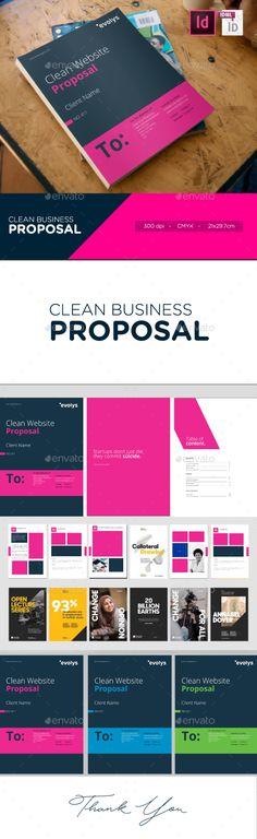 Clean Modern Corporate Website Design Proposal - #Proposals & Invoices Stationery Download Here:     https://graphicriver.net/item/clean-modern-corporate-website-design-proposal/19979083?ref=suz_562geid