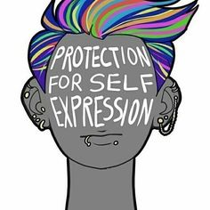 Protection for self expression.  Gender expression and gender do not match up…