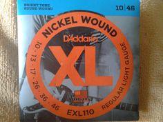 1 Set D'Addario EXL110 Electric Guitar Strings 10-46 Reg. Light Pack New unoped #DAddario #Strings