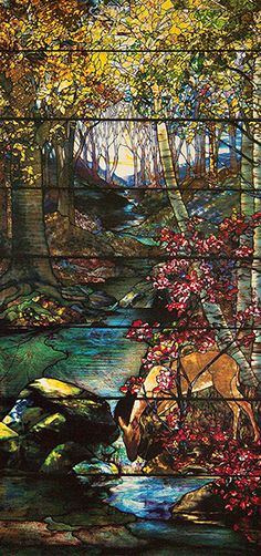 Louis Comfort Tiffany, Gould Landscape Window, 1910. Provenance: Miss Helen Gould, Vito D'Agostino.