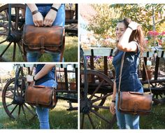 Handmade leather shoulder bag. Hand crafted by Transylvanian Monk. http://etsy.me/2ueaKi9
