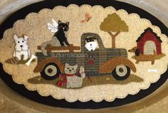 Wool Applique - Vintage Truck Thru the Year - March - Choose Pattern Only or Pattern with Wool Kit