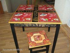 Декор предметов Декупаж Набор мебели Китайская чайная церемония Дерево фото 4