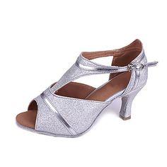 Personalizado das mulheres Espumante Glitter sapatos de dança para as sandálias Latina / salão de baile – EUR € 34.99