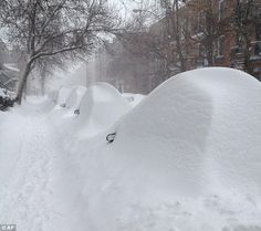 Parked cars are hidden under mounds of snow on Darling Street in Montreal, Quebec, Canada Quebec Montreal, Quebec City, Snow Scenes, Winter Scenes, Street Magic, Canada Holiday, Zen, O Canada, Alberta Canada