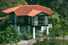 This is a colonial bungalow that was formerly the residence of the Assistant Directors of Singapore Botanic Gardens. It is named after E.J.H. Corner who was Assistant Director in the period 1929-1945. Corner was an expert on fungi and tropical trees and palms. He went on to become Professor of Tropical Botany at the University of Cambridge.