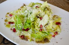 Butter Lettuce, Apples, Pomegranate Seed, Shaved Celery, Charred  Shallot Vinaigrette, Shaved Manchego