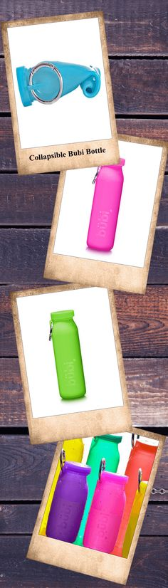 The first multi-use silicone water bottle, designed to fit your lifestyle. Features hot or cold compress, is BPA free, Microbial resistant, and rolls up to 1/3rd the size to fit in your bag!