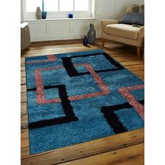 Get My Rugs Hand-Tufted Firoza Area Rug Rug Size: