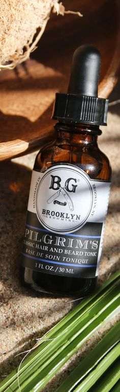 Pilgrim's hair and beard tonic by Brooklyn Grooming #natural #vegan #hairtonic #unisex #mensgrooming