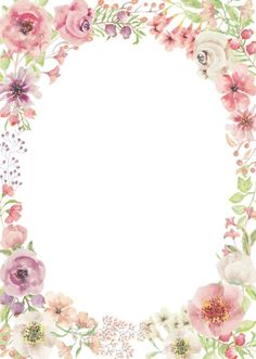 Shielo and Christina Flower Boarders, Flower Frame, Calligraphy Background, Paper Background, Borders For Paper, Borders And Frames, Png Floral, Floral Drawing, Decoupage Vintage