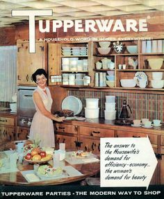 Vintage Tupperware: See retro plastic container styles, from the to the - Click Americana Plastic Containers, Food Storage Containers, Old Kitchen, Vintage Kitchen, Kitchen Decor, Tupperware Consultant, Vintage Tupperware, Patriotic Party, Funny Art