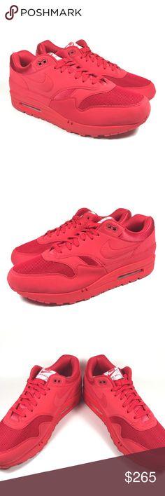 Nike Air Max 1 Premium University Red 875844 600 Mens Movement Fitness 875844 600