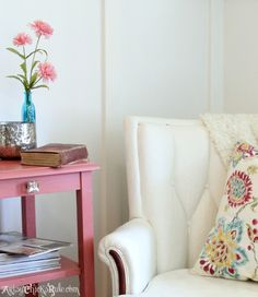 Thrifty French Chair Makeover {Annie Sloan Chalk Paint®} -  artsychicksrule.com #chalkpaint