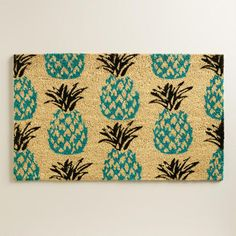 Blue Pineapple Doormat | World Market