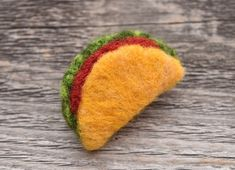 Excited to share this item from my shop: Taco Tuesday Pin, Needle Felted - Merino Wool Unique Accessory Wet Felting, Needle Felting, Mini Tacos, Felt Gifts, Needle Felted Animals, Felt Animals, Felt Food, Felt Brooch, Felt Ornaments