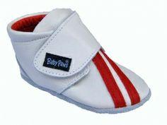 Baby Paws Rap-Ova sport        wit met rode strepen