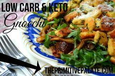 Low carb & keto friendly Gnocchi! 4 Carbs per serving! Amazing pasta!