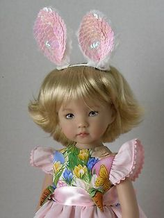 """Easter Pinafore Romper for 13""""  Little Darling by Dianna Effner       J L Produc"""