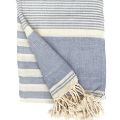Ottoloom Biarritz Turkish towel in Sky Blue. Hand loomed with GOTS certified organic cotton. Turkish Towels, Gifts For Him, Organic Cotton, Beach Pool, Blanket, Blue, Sky, Collection, Stylish