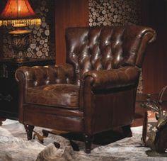 Vintage Echtleder Chesterfield Ledersessel Design Lounge Leder Club Sessel 449 | eBay