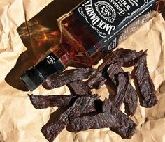 Homemade Jerky: Where Whiskey and Beef Are a Match Made in Heaven The ultimate road food tastes better homemade. Deer Jerky Recipe, Venison Jerky Recipe, Homemade Beef Jerky, Venison Recipes, Smoker Recipes, Jack Daniels Beef Jerky Recipe, Venison Kielbasa Recipe, Jerky Seasoning Recipe, Food Smoker