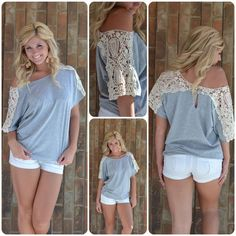 DIY T shirt Refashion Ideas with white lace sleeves. Five interesting ideas how to refashion your old t shirt and diy new fancy t shirt white lace sleeves. Not strictly lotr/hobbit, but could work for an inspired outfit Diy Clothing, Sewing Clothes, Do It Yourself Mode, T-shirt Refashion, Sweatshirt Refashion, Diy Vetement, Creation Couture, Refashioning, T Shirt Diy