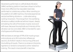 Some Exceptional Health & Wellness Benefits of Whole Body Vibration.