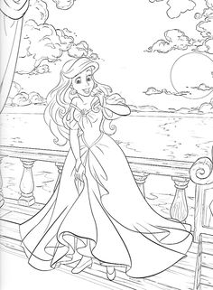 The little Mermaid — Coloring. Ariel Coloring Pages, Disney Coloring Sheets, Disney Princess Coloring Pages, Barbie Coloring, Disney Princess Colors, Printable Adult Coloring Pages, Disney Colors, Cartoon Coloring Pages, Coloring Pages To Print