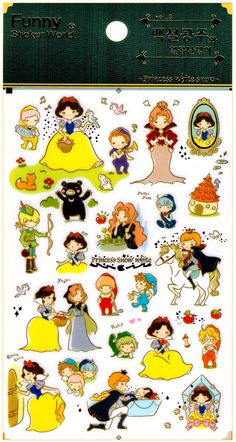 Funny Sticker World Snow White Fairy Tale Sticker Sheet