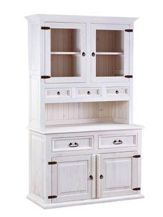Stylová rustikální bílá kredenc z masivní borovice Sweet Home, China Cabinet, Bar, Coffee, Storage, Furniture, Home Decor, Kaffee, Purse Storage